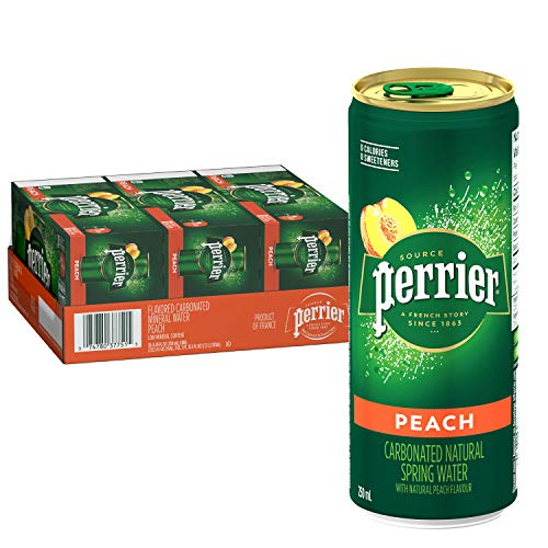 Perrier Carbonated Mineral Water, Slim Cans, 8.45 Fl Oz (Pack of 30) : Grocery & Gourmet Food