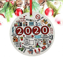 2020 Christmas Ornaments, Christmas Ornament, Friends Quarantine Merry Christmas Ornaments Gift - 1 Pack: Kitchen & Dining