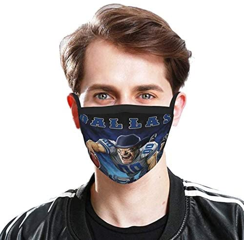 Fremont Die Dall-as Cowb-oys NFL Outdoor Bandanas,Adult Black Border Masks,Mouth Guard,Balaclava,Neck Gaiter,Dustproof Scarf,Face Cover: Home & Kitchen