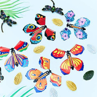 30 Pieces Magic Fairy Flying Butterfly Rubber Band Powered Butterfly Wind up Fairy Butterfly Toy for Surprise Gift or Party Playing: Toys & Games