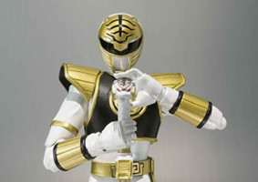Tamashii Nations S.H. Figuarts Mighty Morphin Power Rangers White Ranger Figure: Toys & Games