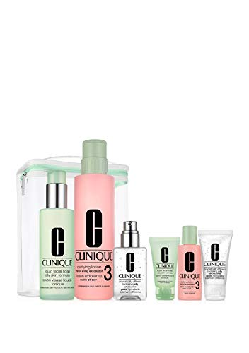 Clinique Large 3-Step Skincare Set For Combination Oily Skin: Beauty