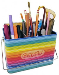 Crayola Caddy Organizer Tin with Handle (Empty): Toys & Games