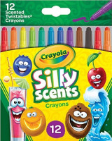 Crayola Silly Scents Twistables Crayons, Sweet Scented Crayons, 12 Count, Gift: Toys & Games