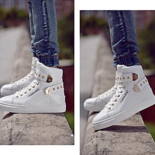PP FASHION Men's Korean Style High Top Platform Fashion Sneaker Sports Casual Shoes   Fashion Sneakers