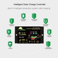SUNER POWER Waterproof 10A Solar Charge Controller - Intelligent12V/24V Solar Panel Battery Regulator : Garden & Outdoor