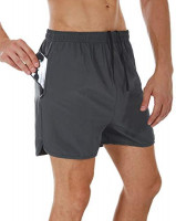 SILKWORLD Men's Running Stretch Quick Dry Shorts with Zipper Pockets(Pack of 2,3): Clothing
