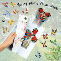 20 Pieces Magic Flying Butterfly Rubber Band Powered Wind up Butterfly Toy for Surprise Book Romantic Fairy Flying Toys for Party Playing Birthday Anniversary Wedding Halloween Christmas Surprise: Toys & Games