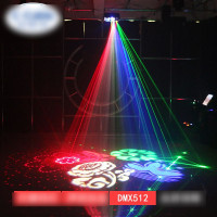 Rotating 4-in-1 Stage Light Beam DMX 512 RGB