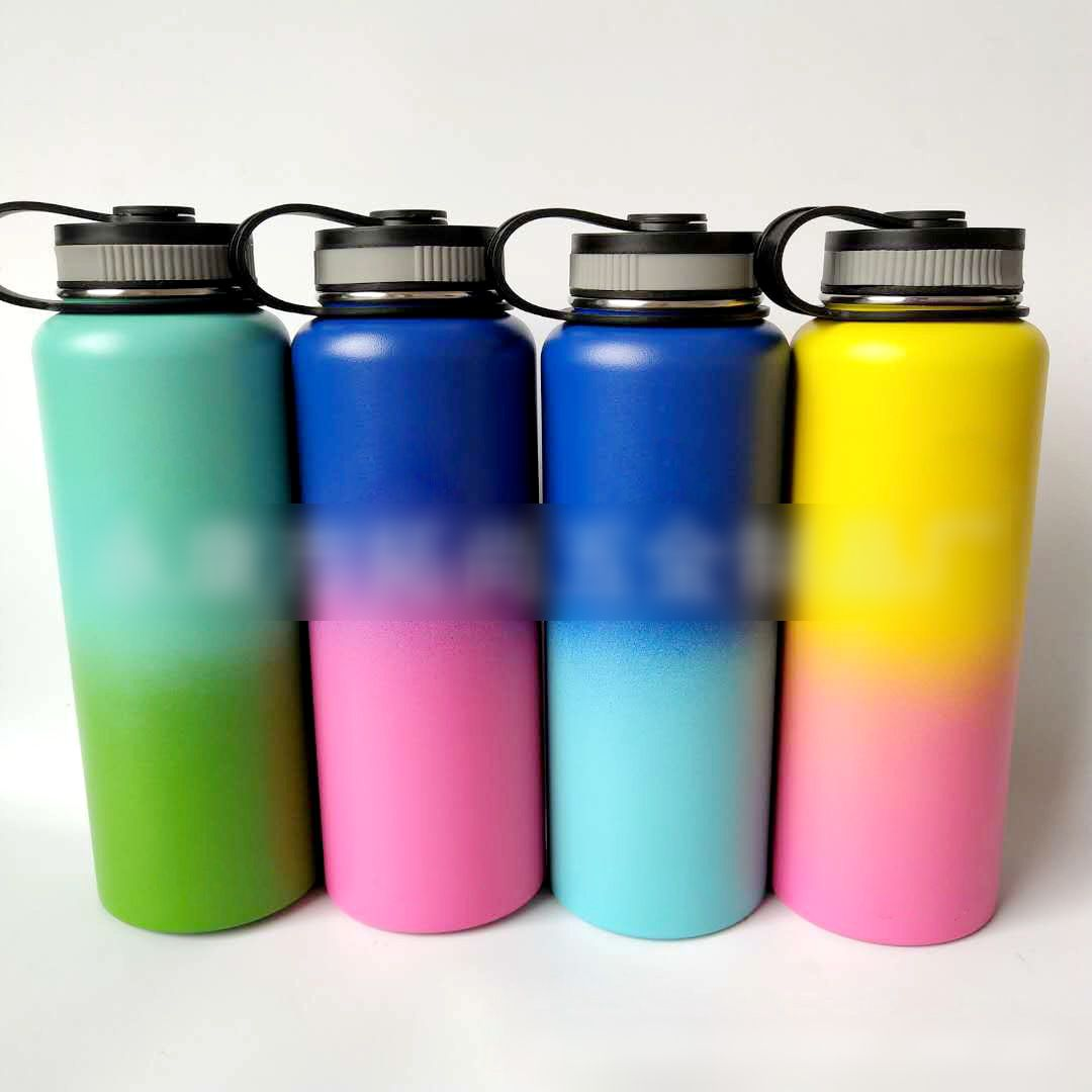 Stainless Steel Water Bottle with Wide Mouth Lid