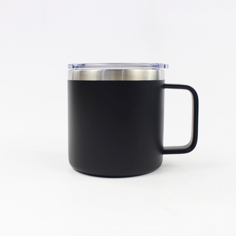 Leak-proof Cover Handles. Double-layer Vacuum Insulated Stainless Steel Coffee Cup
