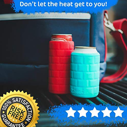 Red Slim Can Flexible Soft Touch Silicone Insulated Cooler 22below