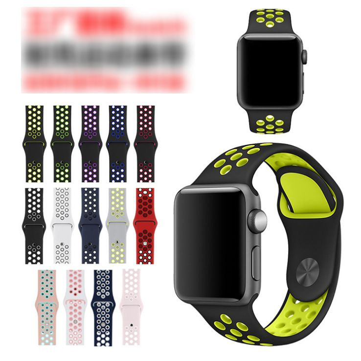 Soft Silicone Sport Band Replacement Wrist Strap  Compatible for Apple Watch Band 38mm 40mm 42mm 44mm,