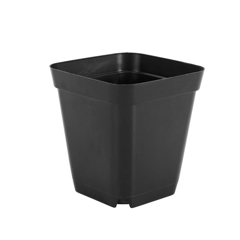 Succulent Small Black Square Plastic Flower Pot Small Square Box Beautiful And Practical Multi-color Succulent Flower Pot