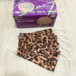 Disposable Three-layer Meltblown Starry Sky Leopard Print Mask Adult Color 95 Filter Thick Mask Mask