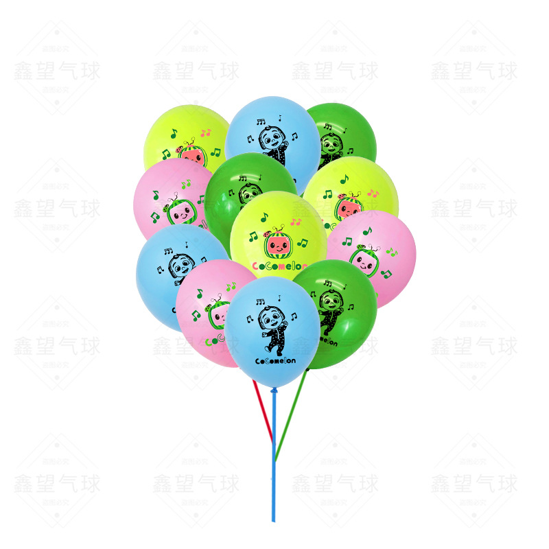 Cocomelon Theme Party Decoration Balloon Combo Children Birthday Animation 12 Inch Latex Balloon Set