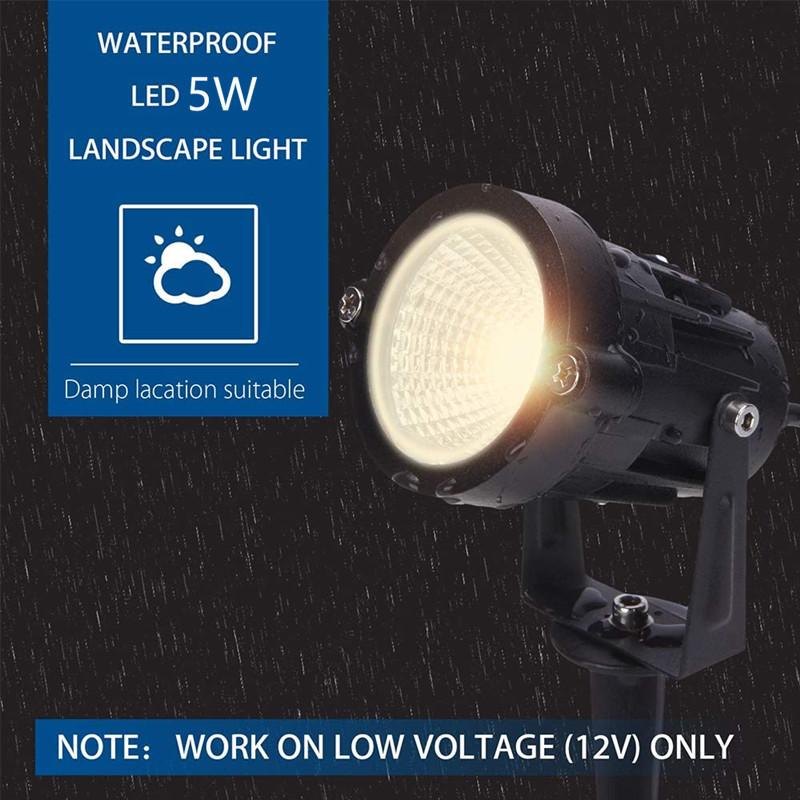 Led Garden Light 7W5W 12W COB Lawn Light Outdoor Ground Lamp IP65 Ground Plug Spotlight