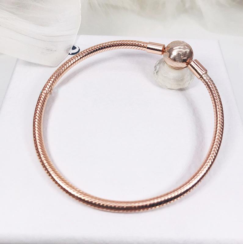 Rose Gold Round Head Basic Chain Bracelet DIY Jewelry Accessories