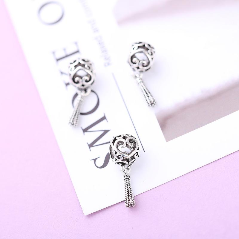 Peach Heart Bracelet DIY Pendant Beads