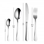 1010 Stainless Steel Cutlery 24 Piece Set Cutlery Table Knife Dinner Spoon Dinner Fork Tea Spoon Set