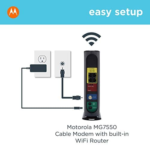 MOTOROLA MG7550 16x4 Cable Modem Plus AC1900 Dual Band