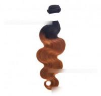 Gradient Black Wine Red Chemical Fiber Hair
