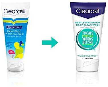 Clearasil Gentle Prevention Daily Clean Wash, 6.5 oz (Pack of 2): Electronics