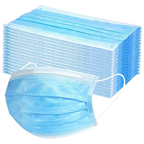 Disposable with Earloops Breathable Non-woven Filter Face Facial, 50PCS : Beauty