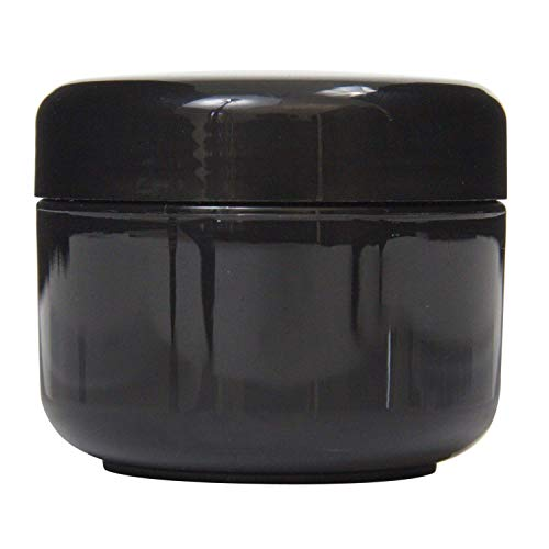 Houseables Black Jar Lotion Container, 2 Oz, 60 ML Gram Capacity, 24 pcs, Plastic, BPA Free, w/Removable Inner Liners & Dome Lids for Cosmetic Samples, Cream : Beauty