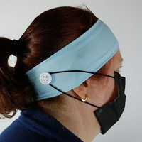 Button Headband Medical Facemask Holder for Nurses, Doctors, and Everyone Wearing a Mask - Protect Your Ears with this Headband : Beauty