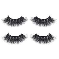 Fluffy 3D Faux Mink Lashes False Eyelashes Pack of 2, Mild Dramatic Eye Makeup Eyelash in High-grade Mirror Box Package with Lash Tweezer : Beauty