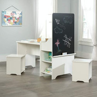 Sauder Pinwheel Kids Activity Center, Soft White finish: Kitchen & Dining