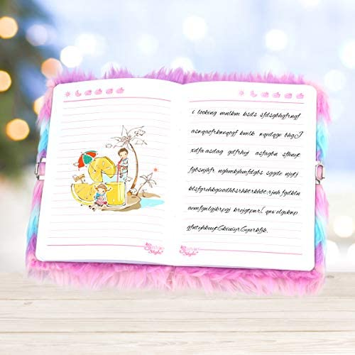 Plush Secret Diary Lined Notebook xx Pages for Writing and Drawing ...