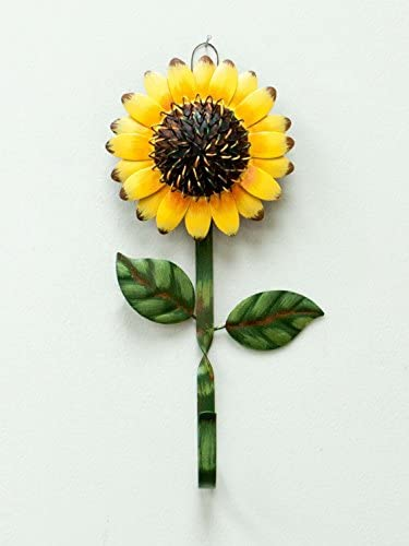 New Metal Sunflower Home Hook Great Home&Kitchen Keys,Coats,Utilities Hook Decor by GRACE HOME: Home & Kitchen