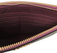 COACH Signature PVC Double Zip Wallet Khaki/Sunflower One Size: Handbags