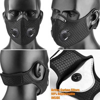 salipt Anti Dust Breathing for Protection, Unisex Black Face Reusable, Activated Carbon Replacement Filter Respirator, Sports Anti Pollen Allergy: Clothing