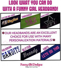 1 DOZEN 2 Inch Wide Cotton Stretch Headbands OFFICIAL FUNNY GIRL DESIGNS HEADBANDS (Official Funny Girl White) at Women's Clothing store