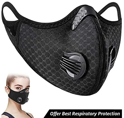 OMNFAS Dust Mask Dustproof Safety Breathing Mask Respirator Activated Carbon Dustproof Mask for Exhaust Gas Anti Pollen Allergy Running Cycling Outdoor Activities