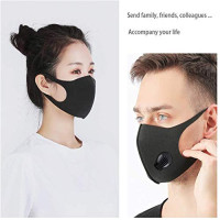 KUNAW Face Mask with Breathing Valve,Reusable Outdoor Anti Smoke Dust Air Purifying PM2.5 Carbon 3-Layer Filter for Dust,Pollen, Pet Dander, Other Airborne Irritants Protection: Beauty