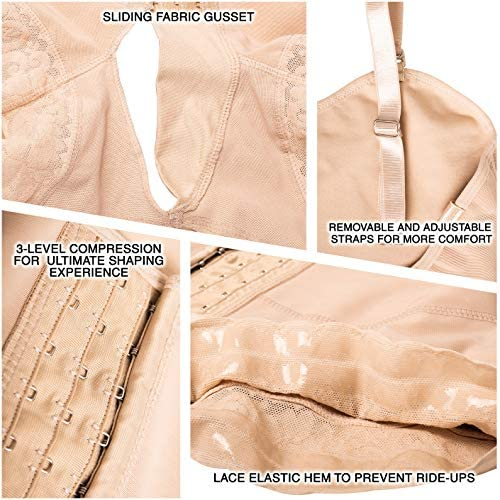 LT.ROSE Tummy Tuck Compression Garment for Women S113 Stage 2 Faja Lipo Underwear Fajas Colombianas Post Surgery at Women's Clothing store