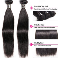 Aliglossy Peruvian Virgin Hair Straight with Lace Frontal Closure 13X4 ear to ear Lace Frontal with Bundles 3 Bundles Straight Human Hair with Frontal Natural Color 100g/PC (14 16 18 with 12) : Beauty