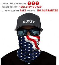 OUYZY Face Scarf Cover Mask, Sun Dust Bandanas for Fishing, Motorcycling, Running: Sports & Outdoors