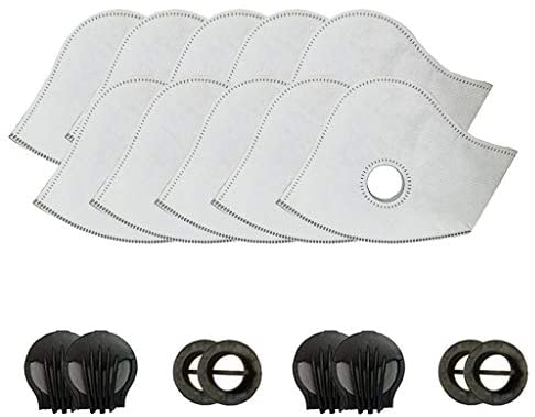 Set of 11 Activated Carbon PM2.5 Filters Air Purifier with 4 Exhaust Valves Replacement Dust