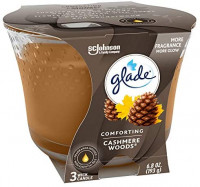 Glade Candle Cashmere Woods, Fragrance Candle Infused with Essential Oils, Air Freshener Candle, 3-Wick Candle, 6.8oz, Pack of 3: Health & Personal Care