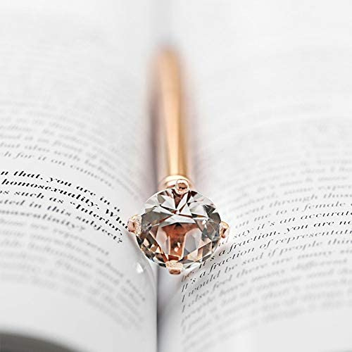 LONGKEY 3PCS Rose Gold Diamond Pens Large Crystal Diamond Ballpoint Pen Bling Metal Ballpoint Pen Office and School Including 3 Pen Refills … : Office Products