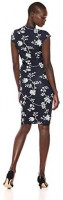 Brand - Lark & Ro Women's Classic Cap Sleeve Wrap Dress: Clothing