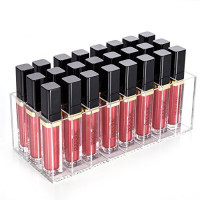 HBlife Lip Gloss Holder Organizer, 24 Spaces Clear Acrylic Makeup Lipgloss Display Case: Beauty