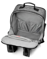 Skip Hop Baxter Diaper Bag Backpack, Multi-Function Ergonomic Baby Travel Bag, Large Capacity with Changing Pad & Stroller Attachment, Textured Grey: Baby