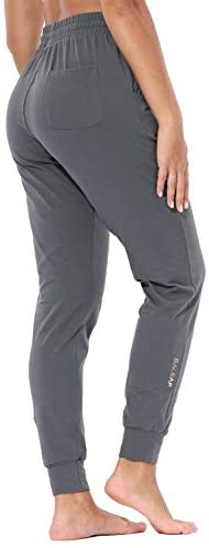 BALEAF Women's Evo Active Sweatpants Cotton Workout Joggers Pants Track Cuff Lounge Sweat Pants Pockets: Clothing