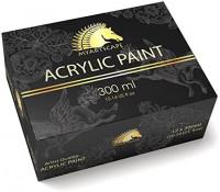 Acrylic Paint Set - 12 x 300ml Bottles - Heavy Body - Lightfast - Artist Quality Paints by MyArtscape